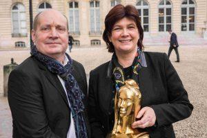 Pierre Creuzet en compagnie ici de Bernadette Laclais,, Députée de Savoie et ex maire de Chambéry