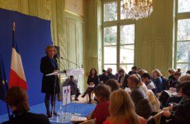 La Ministre du Travail, Muriel Pénicaud, lors de la présentation de la réforme de la formation professionnelle, le lundi 5 mars 2018.