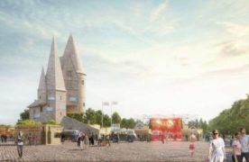 Un visuel du cabinet d'architecture a dévoilé à quoi pourraient ressembler le château et son parvis